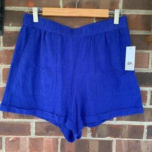 NWT Nordstrom BP cuff hem linen blend shorts
